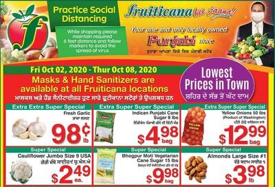 Fruiticana (Calgary) Flyer October 2 to 8