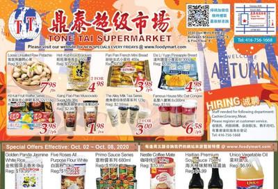 Tone Tai Supermarket Flyer October 2 to 8