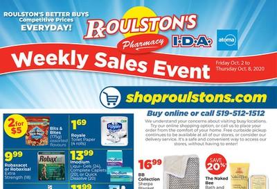 Roulston's Pharmacy Flyer October 2 to 8