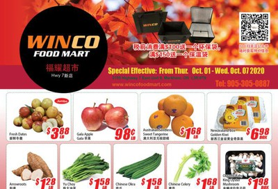 WinCo Food Mart (HWY 7) Flyer October 1 to 7