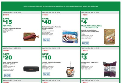 Costco (ON & Atlantic Canada) Weekly Savings December 9 to 24