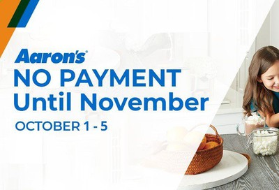 Aaron's Weekly Ad Flyer October 1 to October 5