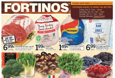 Fortinos Flyer October 8 to 11