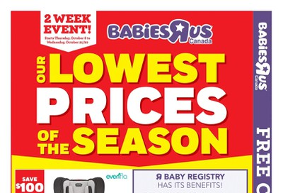 Babies R Us Flyer October 8 to 21