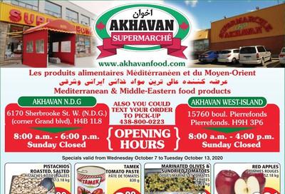 Akhavan Supermarche Flyer October 7 to 13