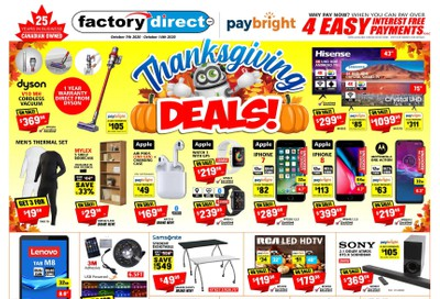 Factory Direct Flyer October 7 to 14