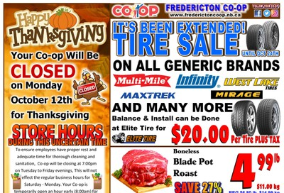 Fredericton Co-op Flyer October 8 to 14