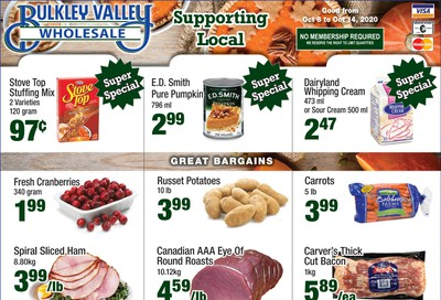 Bulkley Valley Wholesale Flyer October 8 to 14