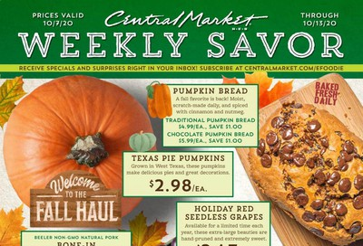 Central Market Weekly Ad Flyer October 7 to October 13