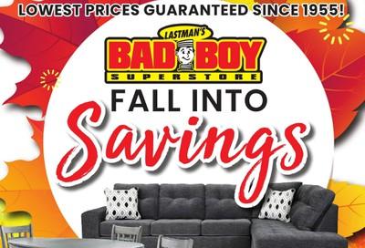 Lastman's Bad Boy Superstore Flyer October 8 to 21