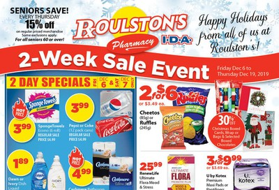 Roulston's Pharmacy Flyer December 6 to 19