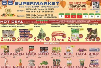 88 Supermarket Flyer October 8 to 14