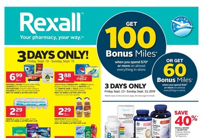 Rexall (West) Flyer September 13 to 19