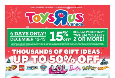 Toys R Us Flyer December 12 to 18