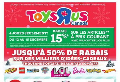 Toys R Us (QC) Flyer December 12 to 18