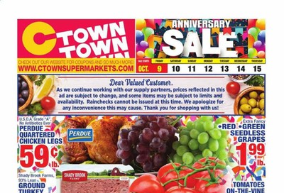 C-Town Weekly Ad Flyer October 9 to October 15