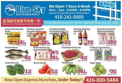 Blue Sky Supermarket (North York) Flyer October 9 to 15