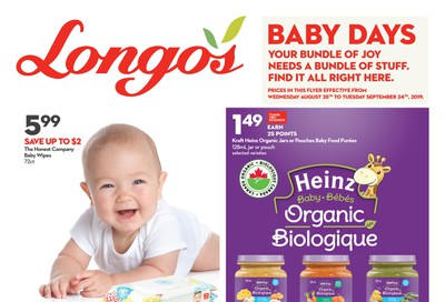 Longo's Baby Flyer August 28 to September 24