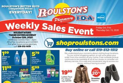Roulston's Pharmacy Flyer October 9 to 15