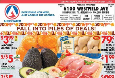 Associated Supermarkets Weekly Ad Flyer October 9 to October 15