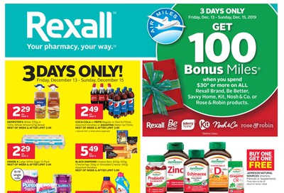 Rexall (West) Flyer December 13 to 19