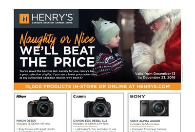 Henry's Flyer December 13 to 23