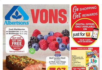 Albertsons Weekly Ad Flyer October 14 to October 20