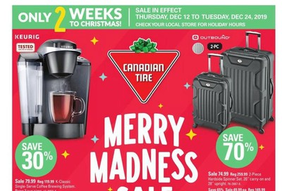 Canadian Tire Merry Madness Sale Flyer December 12 to 24