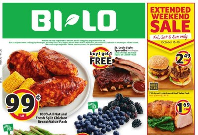 BI-LO Weekly Ad Flyer October 14 to October 20
