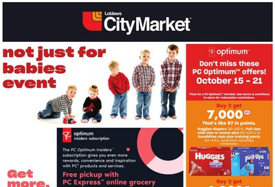 Loblaws City Market (West) Baby Flyer October 15 to 28