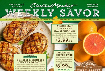 Central Market (TX) Weekly Ad Flyer October 14 to October 20
