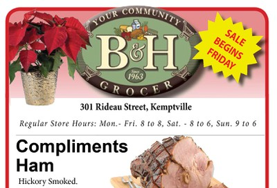 B&H Your Community Grocer Flyer December 13 to 19