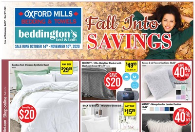 Beddington's Flyer October 14 to November 10
