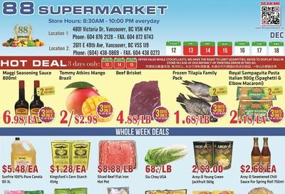 88 Supermarket Flyer December 12 to 18