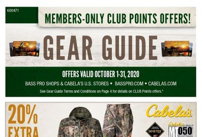 Cabela's Weekly Ad Flyer October 1 to October 31