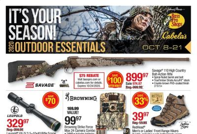 Bass Pro Shops Weekly Ad Flyer October 8 to October 21