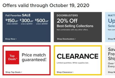 Value City Furniture Weekly Ad Flyer October 15 to October 19