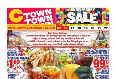 C-Town Weekly Ad Flyer October 16 to October 22