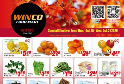 WinCo Food Mart (HWY 7) Flyer October 15 to 21