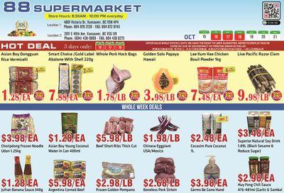88 Supermarket Flyer October 15 to 21