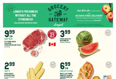 Longo's Grocery Gateway Flyer August 28 to September 24