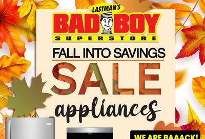 Lastman's Bad Boy Superstore Appliances Flyer October 8 to November 4