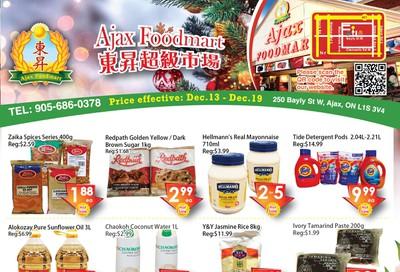 Ajax Foodmart Flyer December 13 to 19
