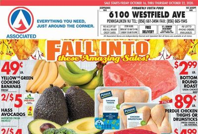 Associated Supermarkets Weekly Ad Flyer October 16 to October 22