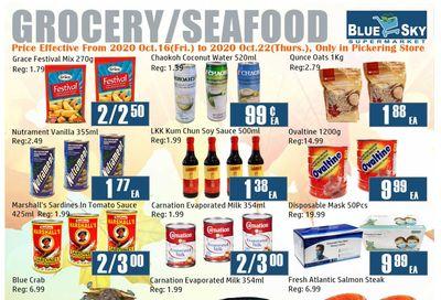 Blue Sky Supermarket (Pickering) Flyer October 16 to 22