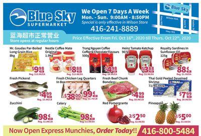 Blue Sky Supermarket (North York) Flyer October 16 to 22
