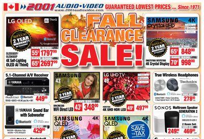 2001 Audio Video Flyer October 16 to 22
