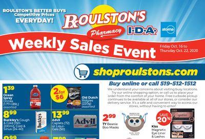 Roulston's Pharmacy Flyer October 16 to 22