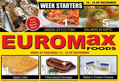 EuroMax Foods Flyer December 12 to 18