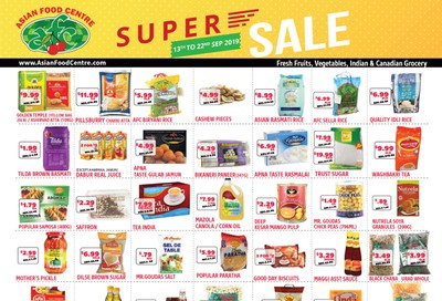 Asian Food Centre Flyer September 13 to 22